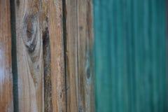 drewniany mur zielone Zdjęcia Stock