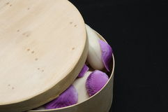 Drewniany mydła pudełko zdjęcie royalty free