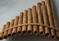 Drewniany niecka flet zdjęcie royalty free