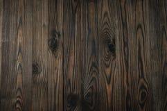 Drewniany nieociosany brown tło Fotografia Stock