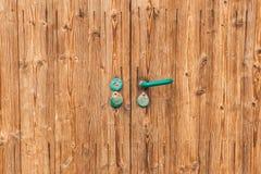 Drewniany nieociosany drzwi Obraz Royalty Free