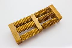 Drewniany nożny masaż Zdjęcia Stock