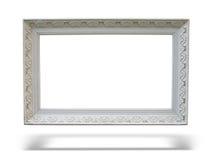 drewniany obrazka antykwarski ramowy stary biel Fotografia Royalty Free