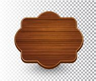 Drewniany odosobniony retro rocznik ramy szablon ilustracji