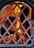 Drewniany ogień obraz stock