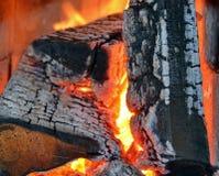 Drewniany ogień obraz royalty free