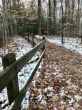 Drewniany ogrodzenie zdjęcie royalty free