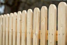 Drewniany ogrodzenie Zdjęcia Royalty Free