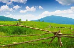 Drewniany ogrodzenie Fotografia Stock