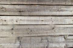 Drewniany ogrodzenie horyzontalne deski na słonecznym dniu Zdjęcia Stock