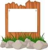Drewniany ogrodzenie i trawa z puste miejsce znakiem Obraz Royalty Free
