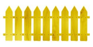 Drewniany ogrodzenie - kolor żółty Zdjęcie Stock