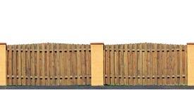 Drewniany ogrodzenie odizolowywający Obrazy Royalty Free