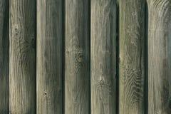 Drewniany ogrodzenie round bele Fotografia Stock