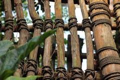 Drewniany ogrodzenie w zoo w Leipzig w Germany zdjęcia stock