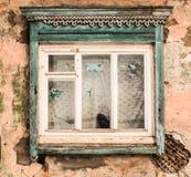 Drewniany okno 4 Obrazy Royalty Free