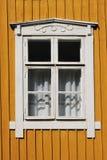 Drewniany okno zdjęcie stock