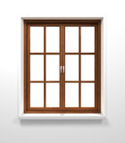 Drewniany okno Zdjęcia Royalty Free