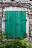 Drewniany okno Fotografia Stock