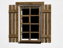 Drewniany okno Fotografia Royalty Free