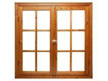 Drewniany okno odizolowywający Obrazy Royalty Free