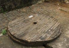 Drewniany okręgu drewno na chodniczek fotografii brać w Jakarta Indonesia Obraz Royalty Free