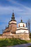 Drewniany Ortodoksalny kościół w Owczary, Polska obraz stock