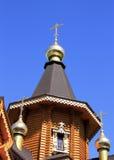 Drewniany ortodoksyjny kościół fotografia stock