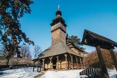 Drewniany ortodoksyjny tradycyjny kościół obraz royalty free