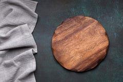 Drewniany półmiska wierzchołek zdjęcia royalty free