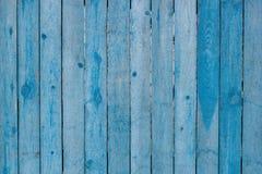Drewniany płotowy błękit Zdjęcie Stock