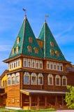 Drewniany pałac Tsar Alexey Mikhailovich w Kolomenskoe, Mosco - Fotografia Royalty Free