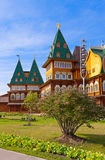 Drewniany pałac Tsar Alexey Mikhailovich w Kolomenskoe, Mosco - Zdjęcia Royalty Free