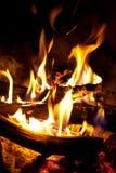 Drewniany palenie w ogieniu Fotografia Royalty Free