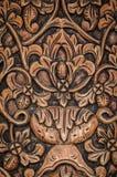 Drewniany panelu cyzelowanie Zdjęcie Royalty Free