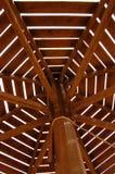 Drewniany parasol Fotografia Royalty Free