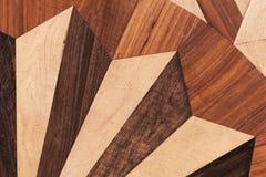 Drewniany parkietowy, round geometryczny wzór, Obraz Stock