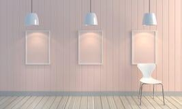 Drewniany pastelowego koloru ściany tło Zdjęcia Stock