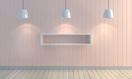 Drewniany pastelowego koloru ściany tło Obraz Royalty Free