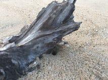 Drewniany & piasku zdjęcie stock