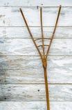 Drewniany pitchfork Zdjęcia Royalty Free
