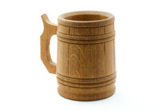 drewniany piwny kubek Fotografia Royalty Free