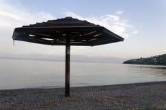 Drewniany Plażowy parasol Zdjęcia Royalty Free
