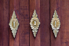 Drewniany podłogowy tło w Wata baranie Poeng Tapotaram, Chiang Mai fotografia royalty free