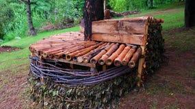 Drewniany pokój Obraz Stock
