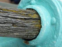 Drewniany poręcz Fotografia Royalty Free