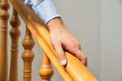 Drewniany poręcz Zdjęcie Royalty Free