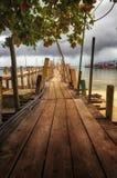Drewniany port Obrazy Stock