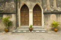 Drewniany portal Obraz Royalty Free