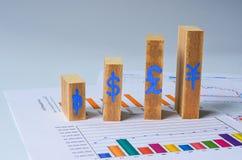 Drewniany prętowy wykres Obraz Stock